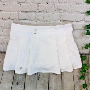 Lululemon Pace Rival II White Skirt 4 Way Stretch